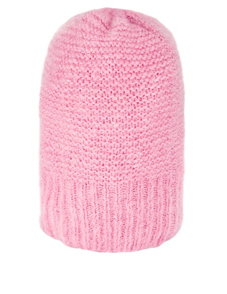 Knitted Beanie Hat with Wool