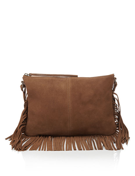 1782011fd6e0 Product images. Skip Carousel. Leather Fringed Across Body Bag