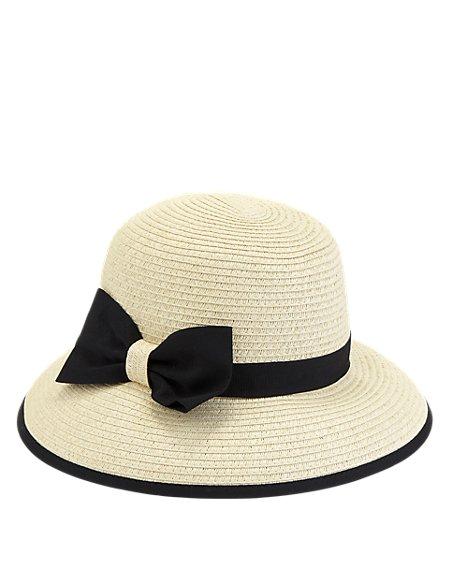 Ribbon Bow Trim Hat