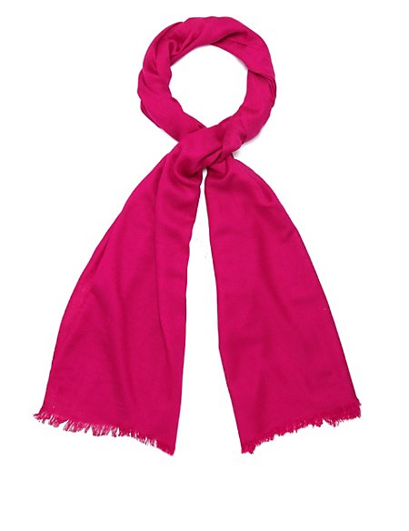 Lightweight Pashminetta Oversize Scarf with Wool