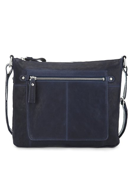Leather Weekend Across Body Bag