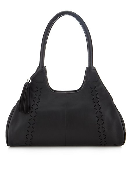 Leather Cut-Out Apron Bag