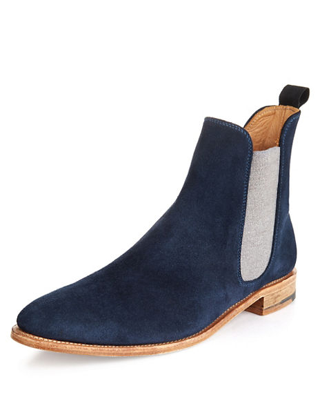 Best of British Suede Chelsea Boots