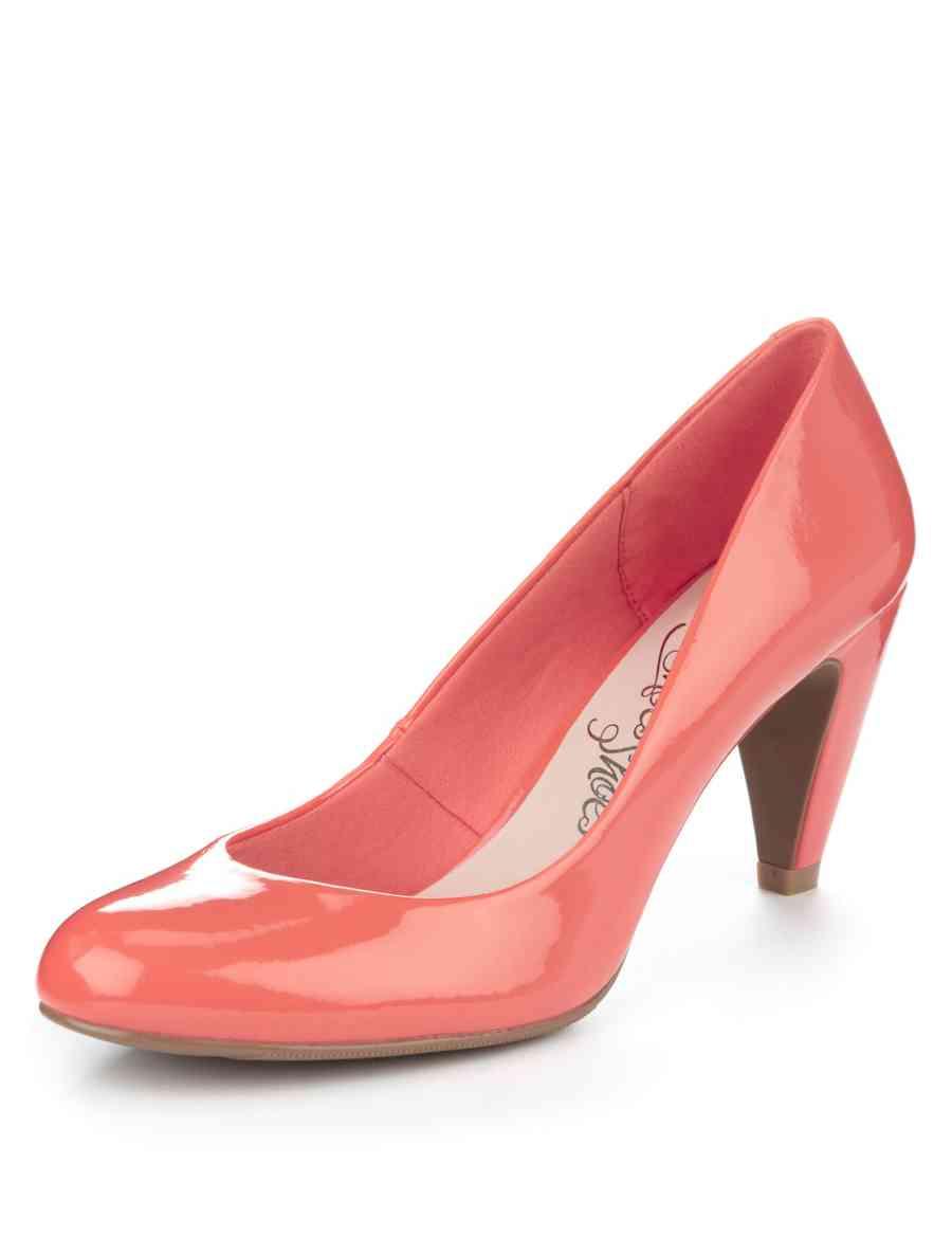 bcc3796662 Round Toe Stiletto Mid Heel Court Shoes