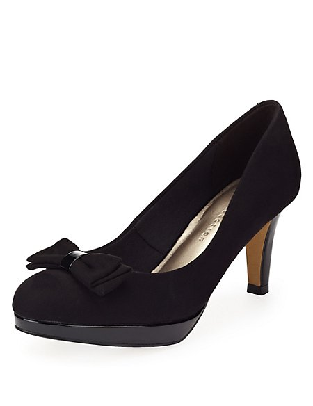 Stiletto Heel Platform Court Shoes with Insolia®