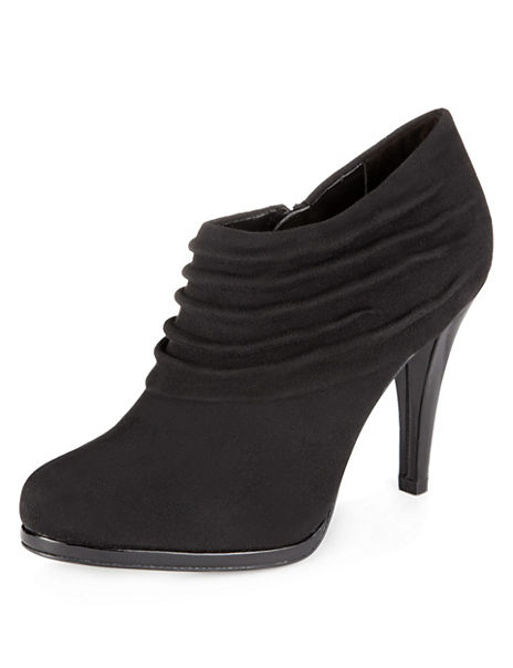 Ruched Platform Shoe Boots with Insolia®