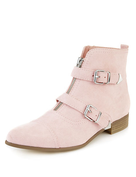 Pointed Toe Monk Ankle Boots with Insolia Flex®