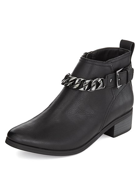 Chain Trim Ankle Boots with Insolia Flex®