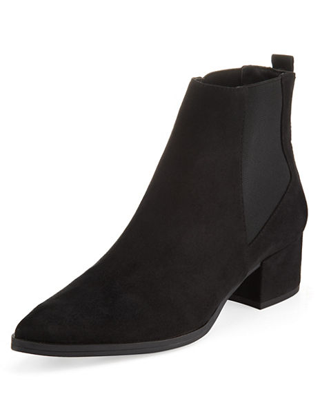 Panelled Pointed Toe Chelsea Ankle Boots with Insolia®