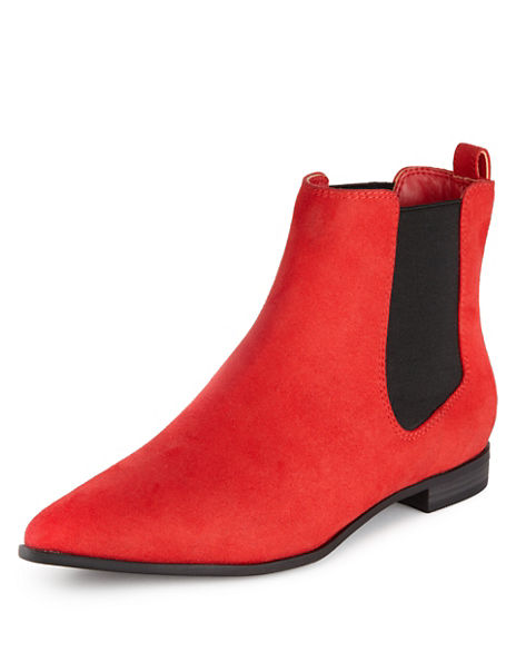 Faux Suede Flat Chelsea Boots with Insolia Flex®