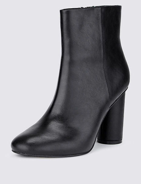 Cylinder Heel Ankle Boot