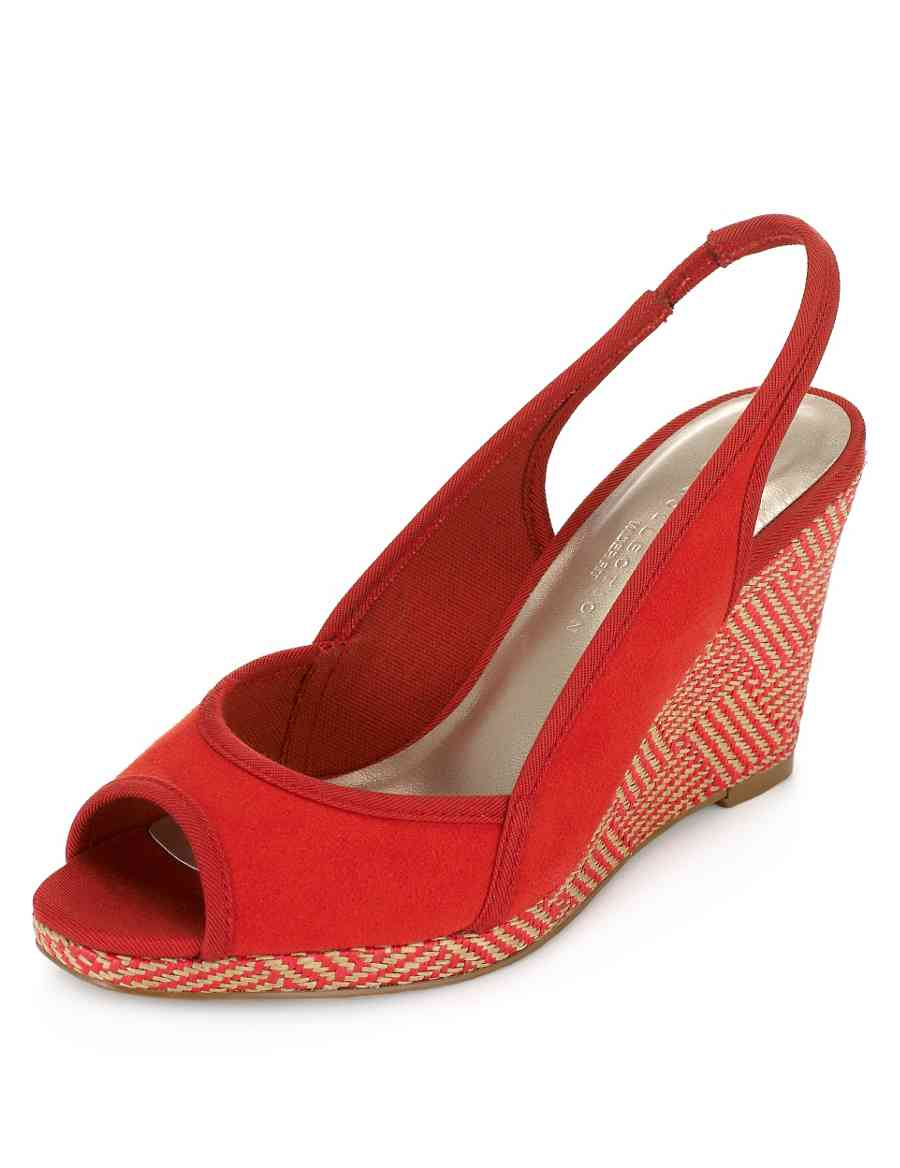 a0191dab091 Slingback Wedge Wide Fit Sandals with Insolia®