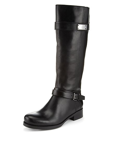 Leather Long Riding Boots with Stretch Zip & Insolia Flex®