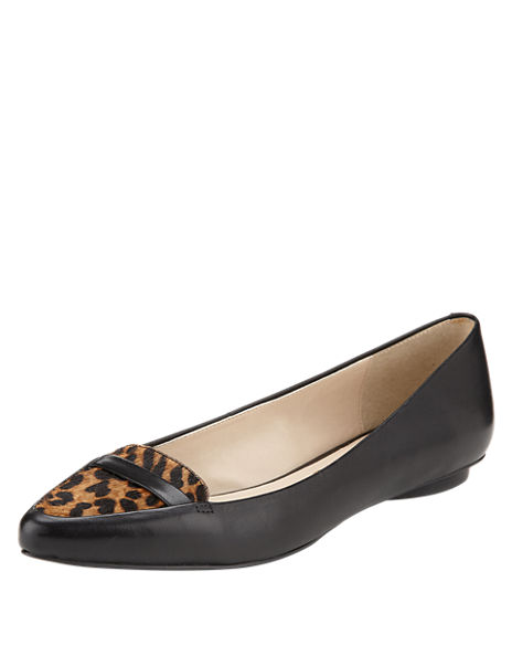 Suede Pointed Toe Loafers with Insolia® Flex