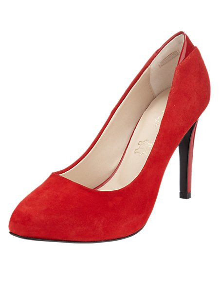 Suede Water Resistant Platform Court Shoes with Insolia®
