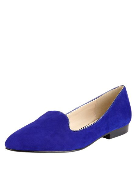 Suede Almond Toe Water Resistant Pump Shoes with Insolia Flex®