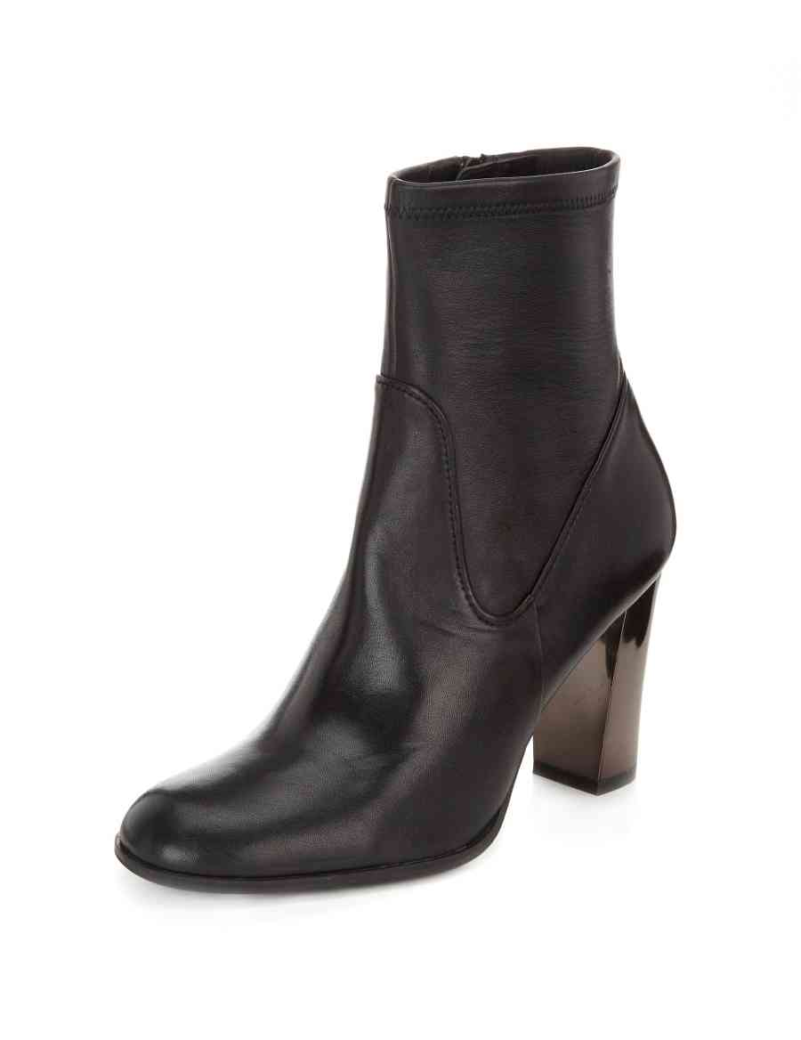 Leather Block Heel Ankle Boots with Insolia®  892256359cea