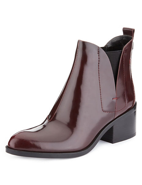 Leather Chelsea Boots with Insolia®