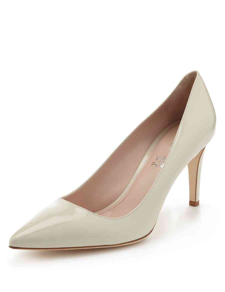 dfcb5d8dc3e Made in Italy Leather Pointed Toe Court Shoes