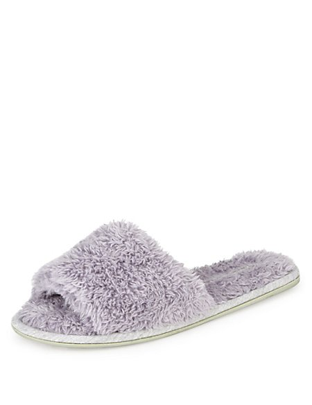 Supersoft Open Toe Mule Slippers