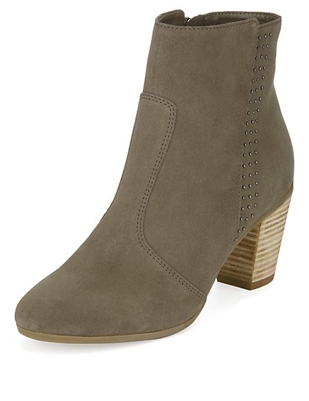 Stain Away™ Suede Elegant Ankle Boots with Insolia®