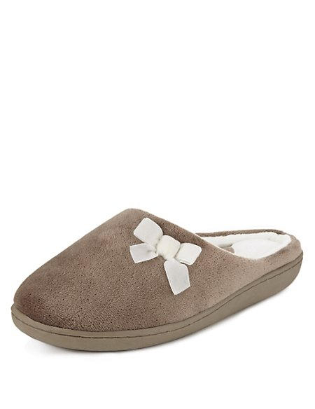 Secret Support™ Recycled Bow Mule Slippers