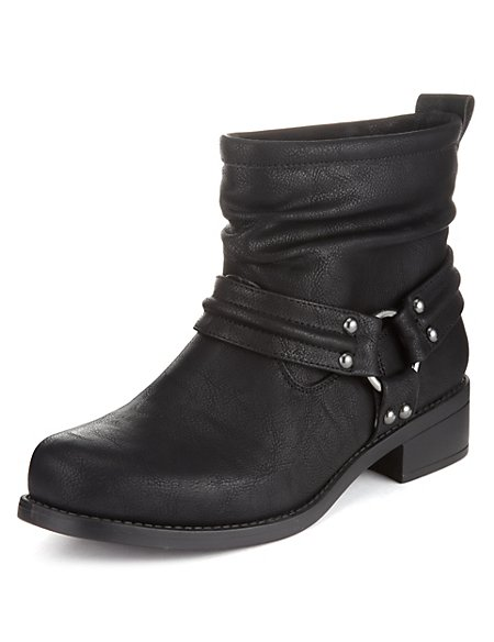 Harness Biker Boots with Insolia Flex®
