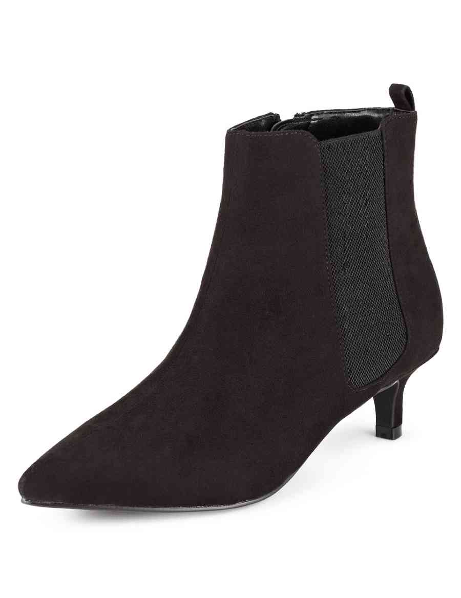6d471ad2ad64f Faux Suede Pointed Toe Chelsea Shoe Boots with Insolia® | M&S Collection |  M&S