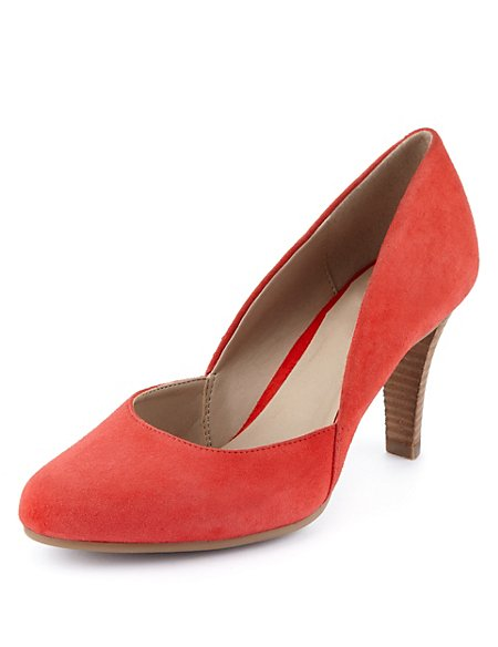 Suede Water Repellent Wide Fit Court Shoes