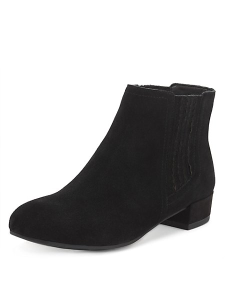 Suede Wide Fit Chelsea Ankle Boots with Stain Away™