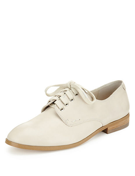Twiggy for M&S Collection Leather Brogue Shoes with Insolia Flex®