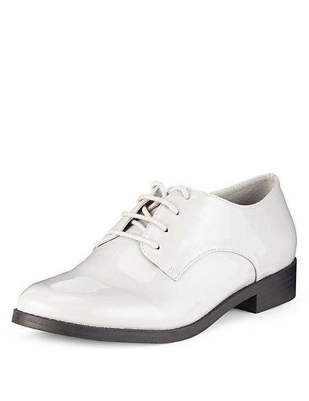 Block Heel Lace Up Flat Brogue Shoes with Insolia Flex®