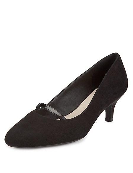 Suede Strap Court Shoes with Stain Away™
