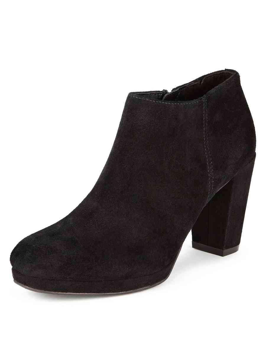 f93e7567872e Stain Away™ Suede Square Toe Platform Shoe Boots