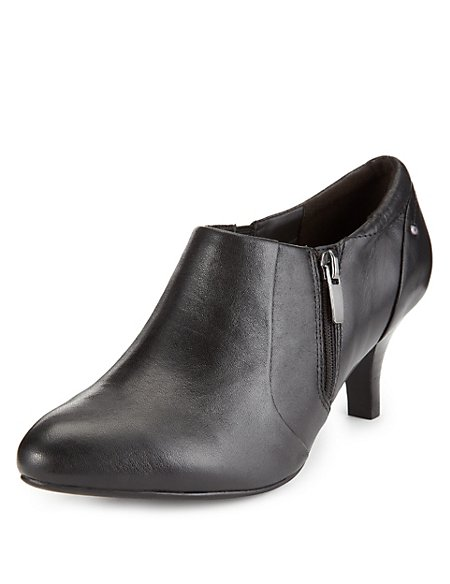 Leather Wide Fit Shoe Boots