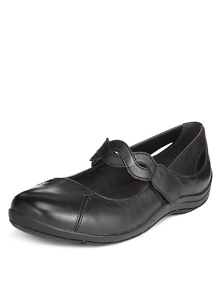 Leather Plaited Dolly Court Shoes
