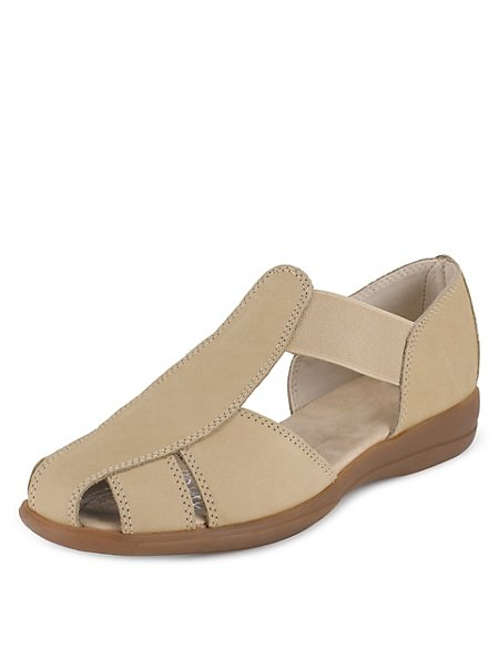 e7b5ee81b5e Product images. Skip Carousel. Leather Wide Fit Elasticated Strap Sandals