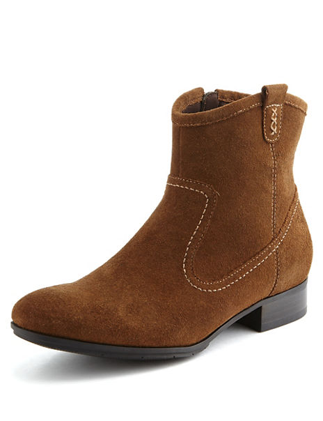 Suede Panelled Boots