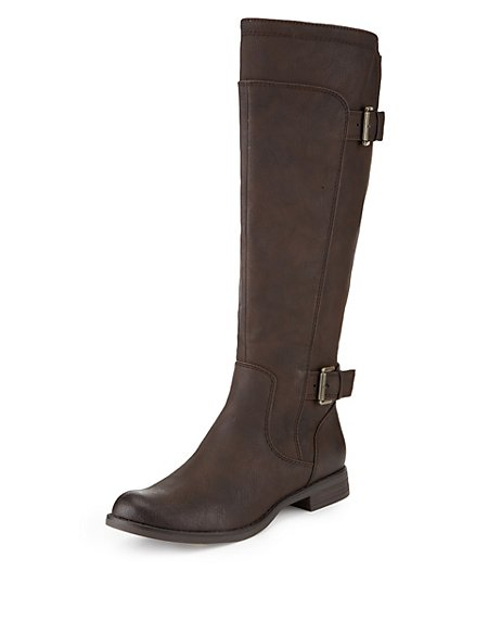 Buckle Riding Boots with Stretch Zip & Insolia Flex®