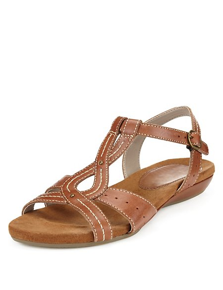 Leather Wide Fit Gladiator Sandals
