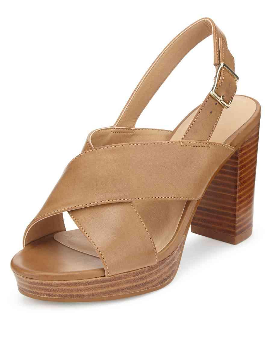 b510d99464da Crossover Platform Slingback Sandals with Insolia®