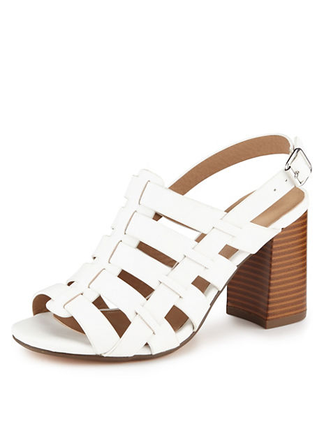 Block Heel Strappy Gladiator Sandals with Insolia®
