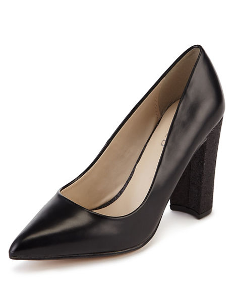 Pointed Toe High Heel Court Shoes with Insolia®