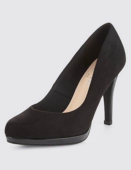 Almond Toe Platform Court Shoes with Insolia®