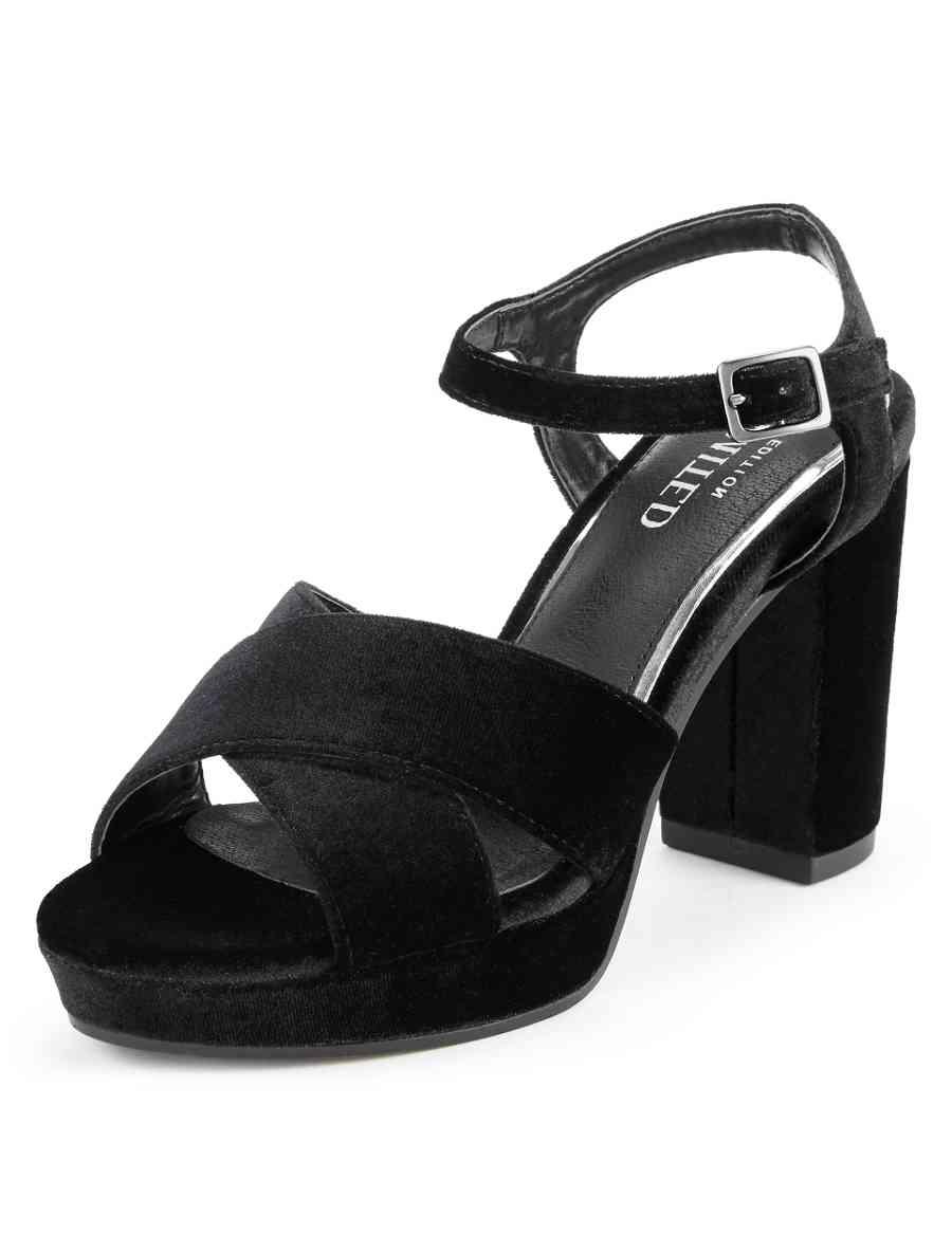d461feffaaf3 Crossover Platform Block Heel Sandals with Insolia®