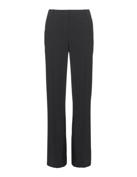 Flat Front Bootleg Trousers with Wool