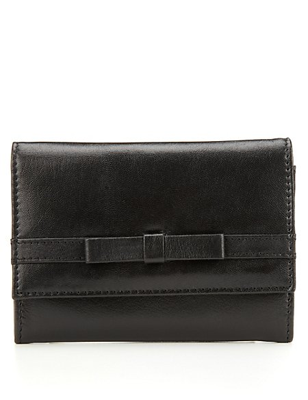 Leather Bow Purse