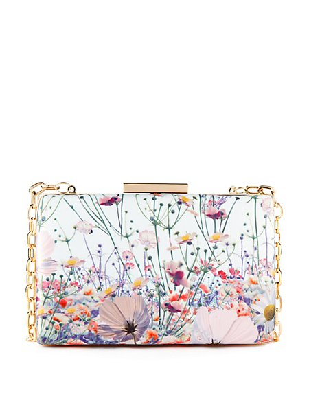 Floral Boxy Clutch