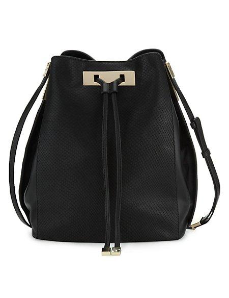Leather Duffle Cross-Body Bag