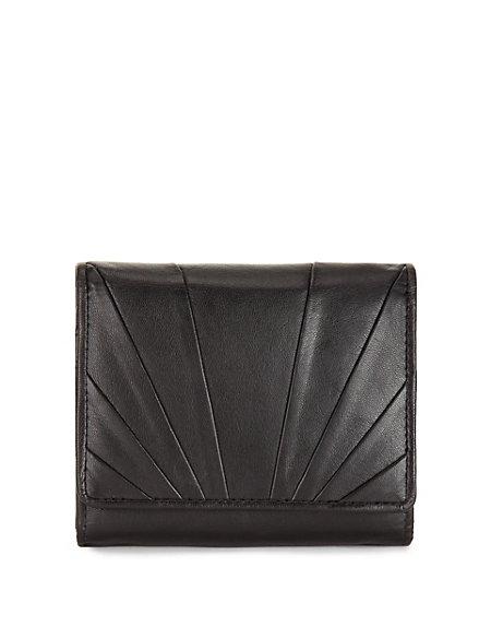 Leather Fan Pleated Medium Purse with Cardsafe™